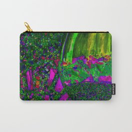 Abstract Wine Glass in Green Carry-All Pouch