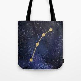 Golden Aries Zodiac Sign Constellation Galaxy Art Tote Bag