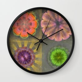 Aetiogenic Actuality Flower  ID:16165-013140-25800 Wall Clock