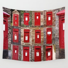 Postboxes of Old England Wall Tapestry