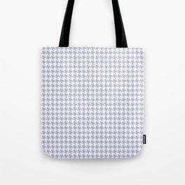PreppyPatterns™ - Modern Houndstooth - white and mist lavender blue Tote Bag