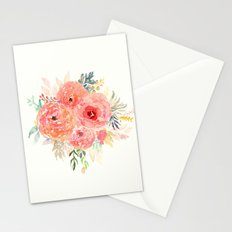 Pink Flower Bouquet Stationery Cards