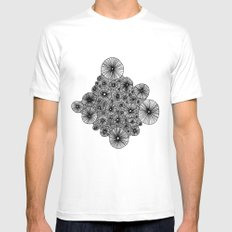 Black Holes MEDIUM Mens Fitted Tee White