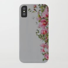 Pink Flowers iPhone X Slim Case