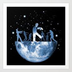 MoonWalk - Moon Zombies Art Print