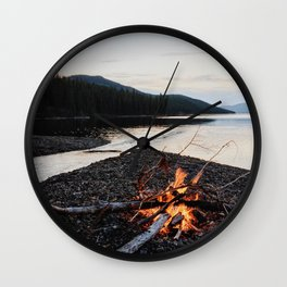 Fox Lake Campfire Wall Clock