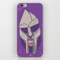 mf doom iPhone & iPod Skins featuring doom 2.0 by Rashida Chavis