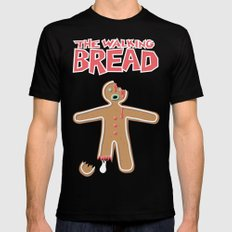 The Walking Bread Zombie Gingerbread Man  Mens Fitted Tee LARGE Black