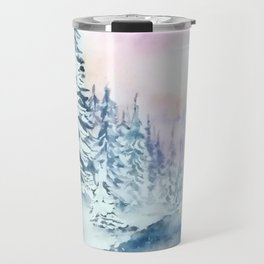 Winter Day-Watercolor Travel Mug