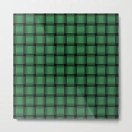 Dark Green Weave Metal Print