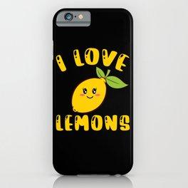 I Love Lemons Vitamin C Small Evergreen iPhone Case