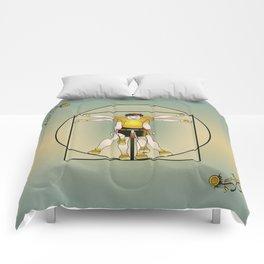 Vitruvian Cyclist Comforters