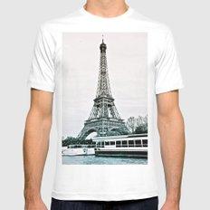 ParigiI Mens Fitted Tee MEDIUM White