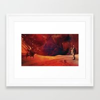 skyfall Framed Art Prints featuring SkyFAll by Høssam Møustafa