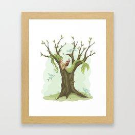 Mermaid Tree Framed Art Print