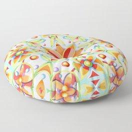 Suzani Textile Pattern Floor Pillow