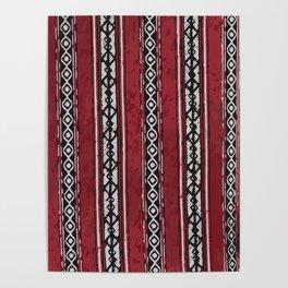 Red Arabian Pattern Poster