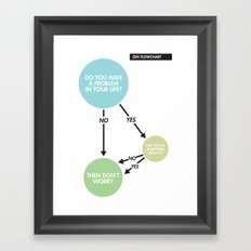 Zen Flowchart Framed Art Print