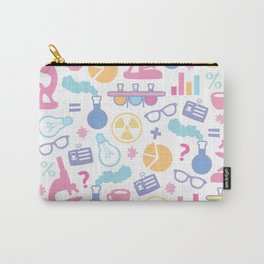 Pastel Science Pattern Carry-All Pouch