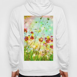 Whimsical Red Poppy Field   Hoody