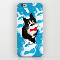 muppet iPhone & iPod Skins featuring Muppet the Moustached Cat by EggsBFF