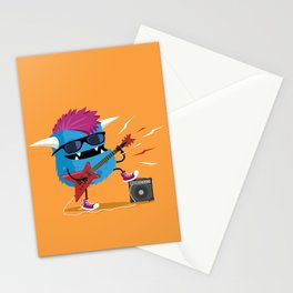 Monster punk rocks with his electric guitar Stationery Cards