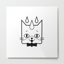 head of a cat vector icon Metal Print