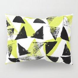 Signs - black & lime green Pillow Sham