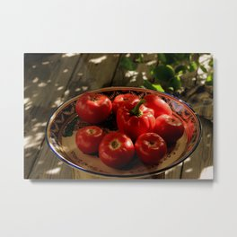 Red vegetables Metal Print