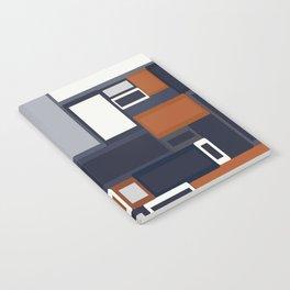 Navy and Rust Mid Century Notebook