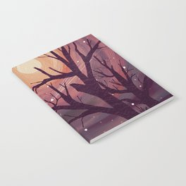 Pinky Night Under The Stars Notebook