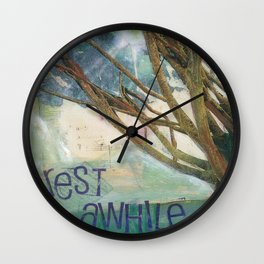 Rest Awhile Wall Clock