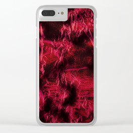 Claret stained texture abstract Clear iPhone Case