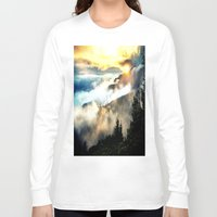 mountains Long Sleeve T-shirts featuring Sunrise mountains by 2sweet4words Designs