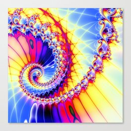 BBQSHOES™: Wu Wei Spiral Fractal Psychedelic Art Canvas Print