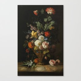 by the painter Jacob Bogdani, - A Still Life of Roses and other Flowers Canvas Print