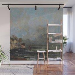 "Gustave Courbet ""Lake Geneva (Le Lac Léman - La Dent du midi)"" Wall Mural"