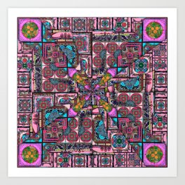 it is complicated pattern Art Print