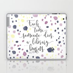 The Sky is Everywhere quote design Laptop & iPad Skin