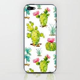 Green Cactus Watercolor iPhone Skin