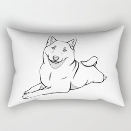 Full Body Shiba Inu Rectangular Pillow