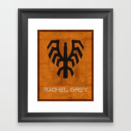 Minimalist Rachel Grey Framed Art Print