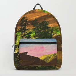 Sunny day at the cabin Backpack