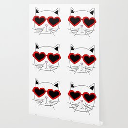 Cat Heart Sunglasses Wallpaper