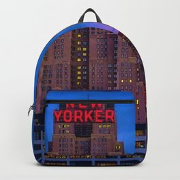 The New Yorker, 481 8th Ave, New York, NY, A Portrait by Jeanpaul Ferro Backpack