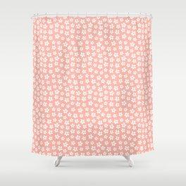 Peachy Daisies Shower Curtain