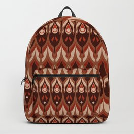 Brown and beige ethnic pattern . Backpack