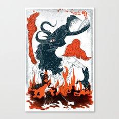 A Jersey Devil Haunting Canvas Print
