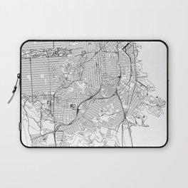 San Francisco White Map Laptop Sleeve