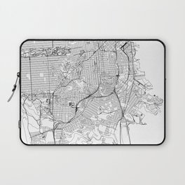 San Francisco White Map Laptop Sleeve